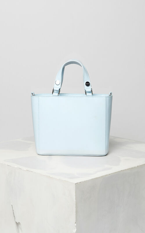 SKY BLUE Small Eye leather tote bag for unisex KENZO