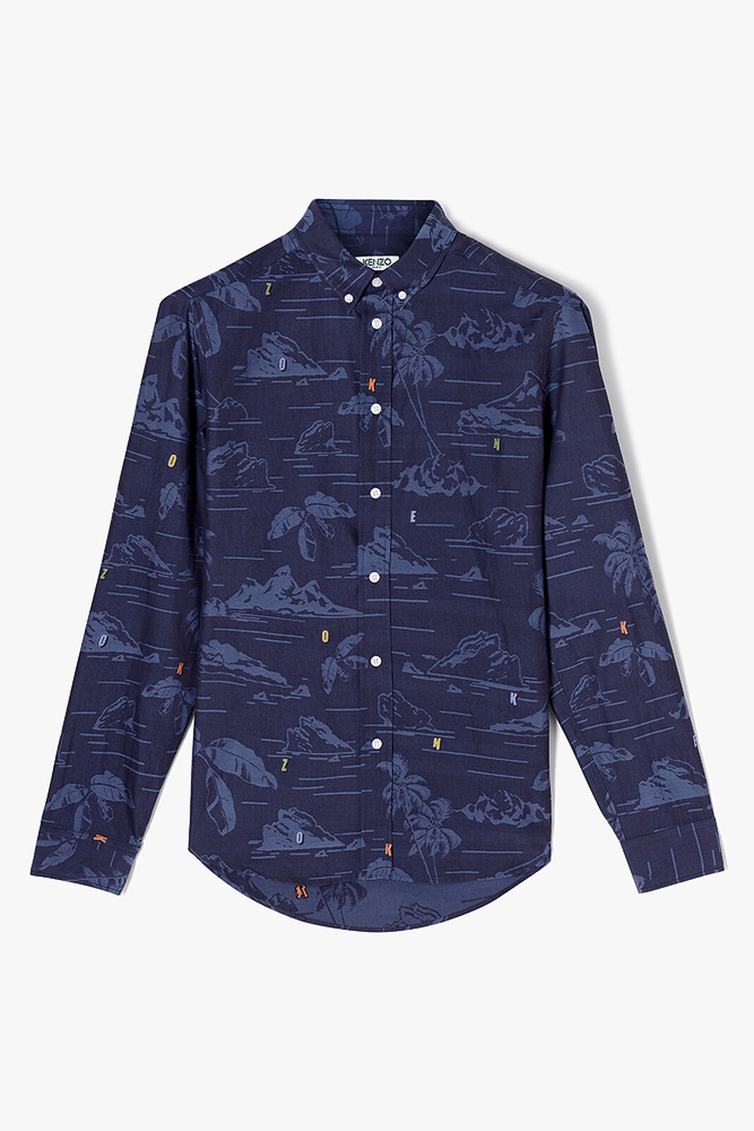 NAVY BLUE 'Tropical Ice' Shirt for women KENZO
