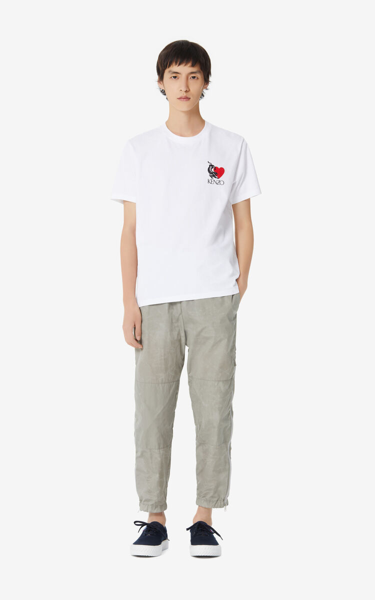 WHITE 'Valentine's Day Capsule' 'Lucky Star' T-shirt for men KENZO