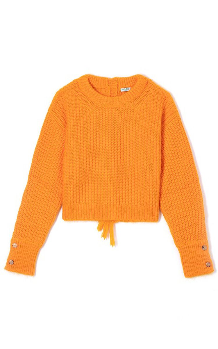 MARIGOLD Fringed cropped jumper for women KENZO