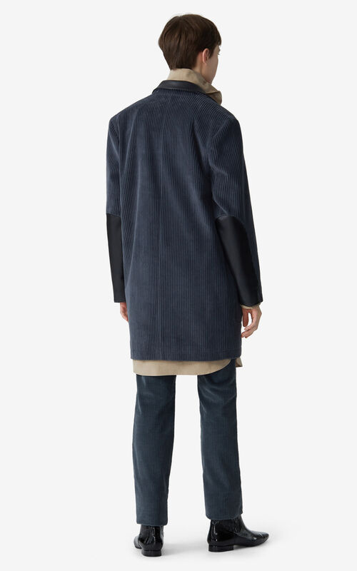 STONE GREY Straight-cut coat for women KENZO