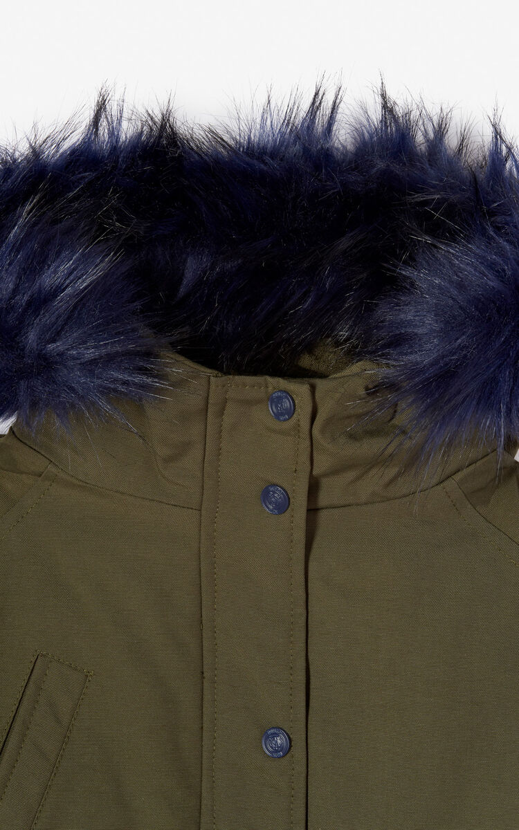 PALE KHAKI 'Fantastic jungle' Puffa parka for men KENZO