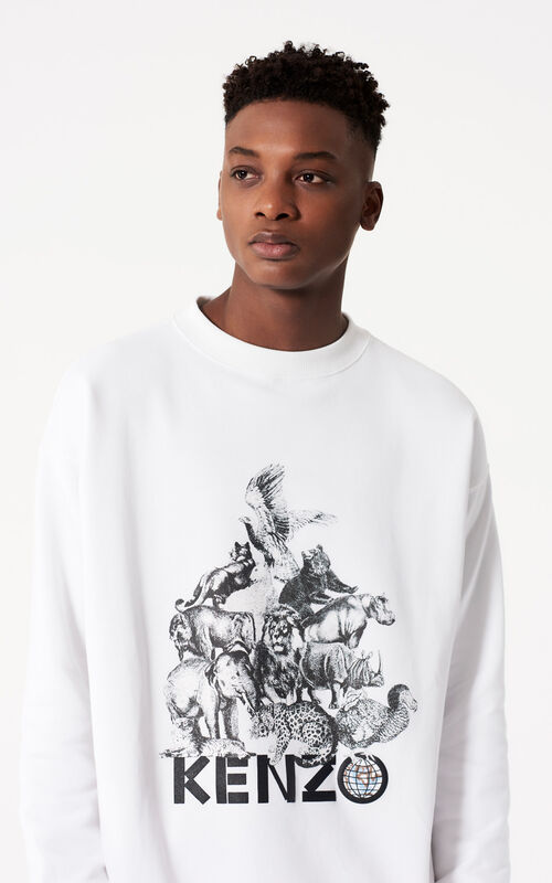 WHITE 'Animals' Sweatshirt for women KENZO