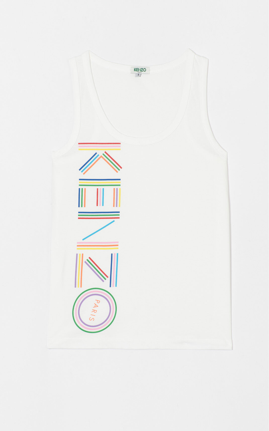 WHITE 'High Summer Capsule Collection' tank top for women KENZO