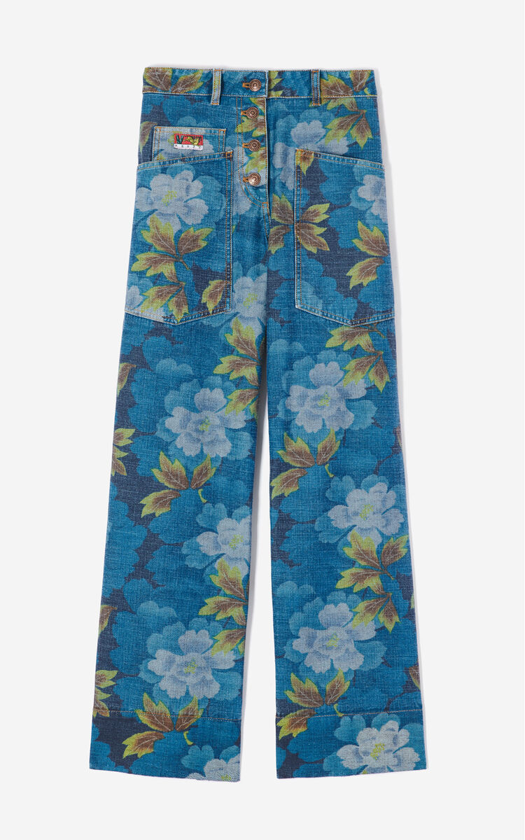 GLACIER 'Indonesian Flower' jeans for women KENZO