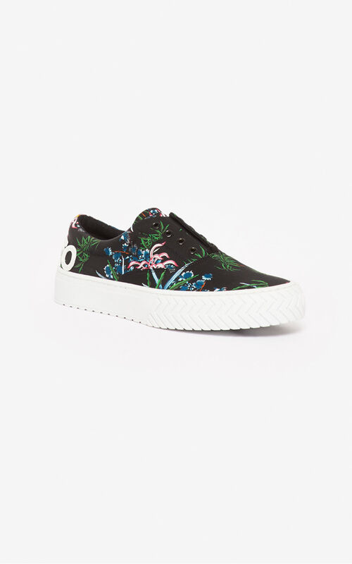 BLACK 'Sea Lily' K-Skate sneakers for women KENZO