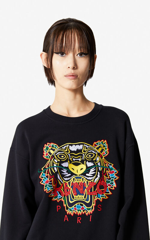 BLACK 'Dragon Tiger' sweatshirt for women KENZO