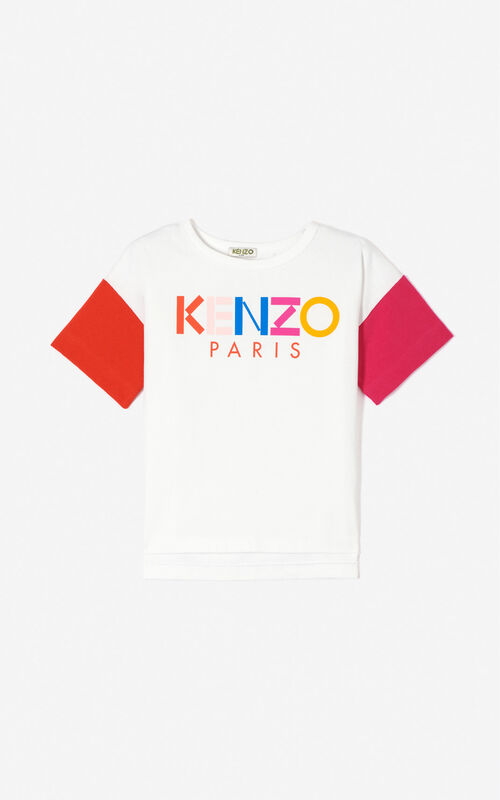 WHITE KENZO Paris 'Frozen' t-shirt for women