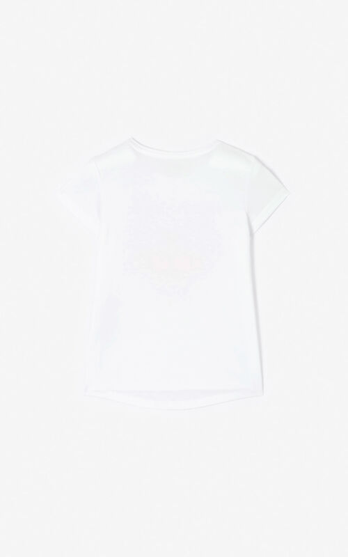 WHITE Tiger T-shirt for unisex KENZO