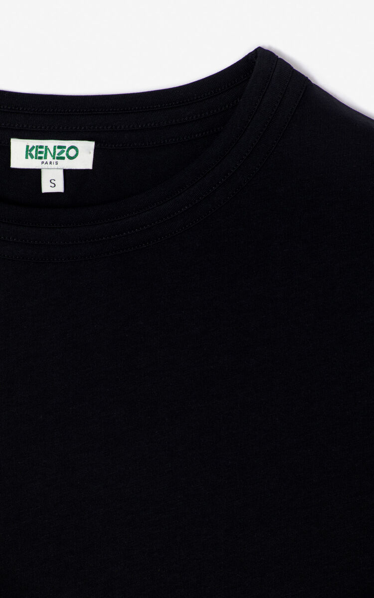 BLACK Cropped t-shirt for women KENZO