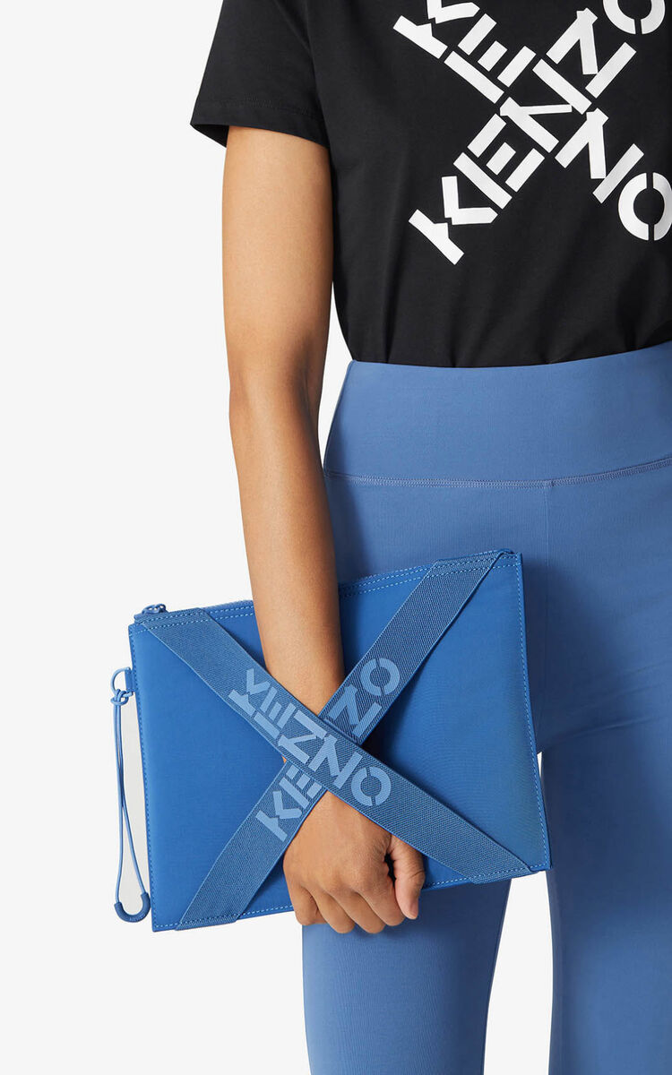 COBALT KENZO Sport large clutch for unisex