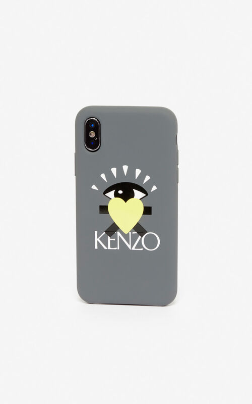 ANTHRACITE iPhone XS Max 'Cupid' case for unisex KENZO