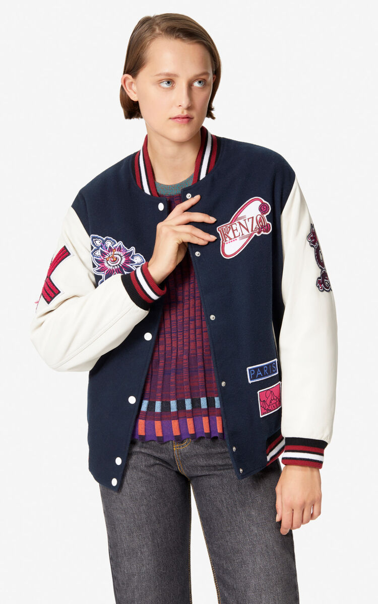 NAVY BLUE 'KENZO Mountain' Varsity jacket for women