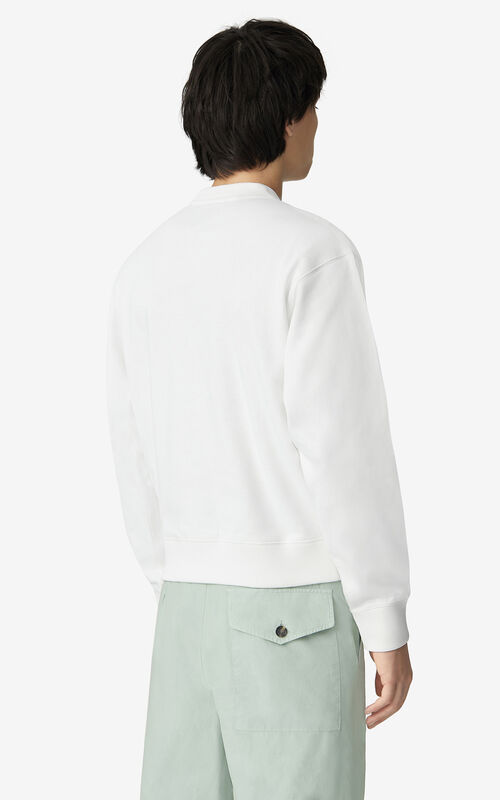 WHITE K-Tiger sweatshirt for men KENZO