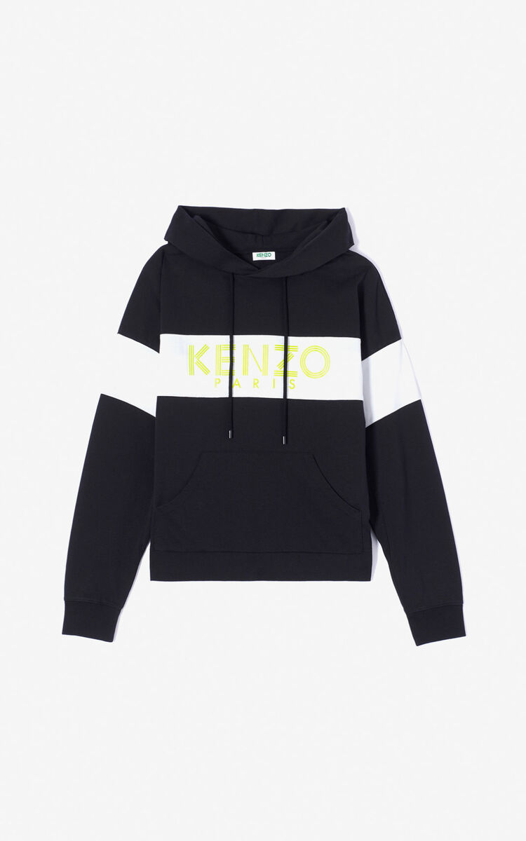 BLACK Hoodie with KENZO Logo for women