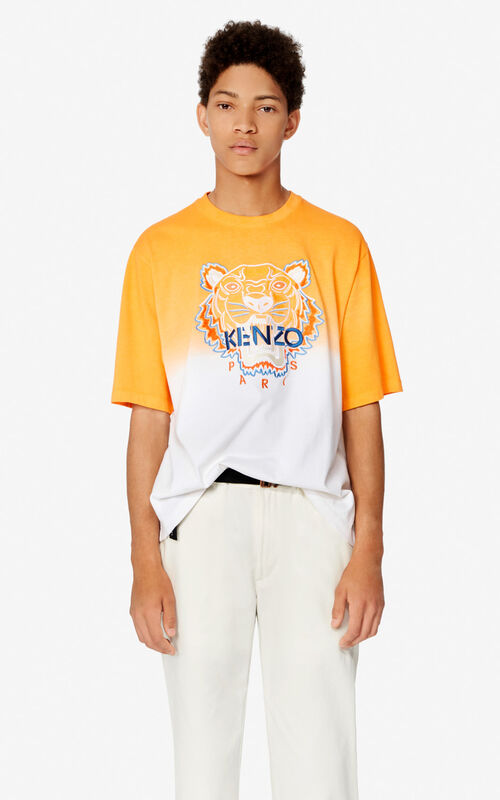 DEEP ORANGE Tiger gradient t-shirt  for women KENZO