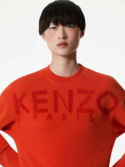 MEDIUM ORANGE KENZO Embroidered Sweatshirt  for women