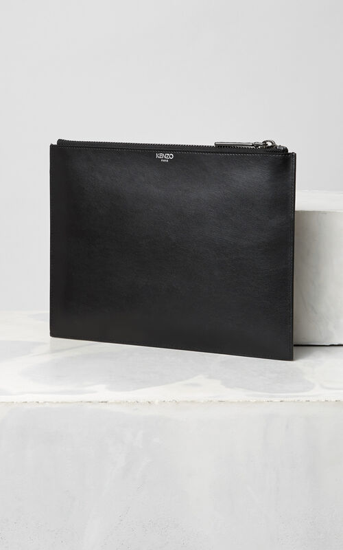 BLACK Eye Clutch for unisex KENZO