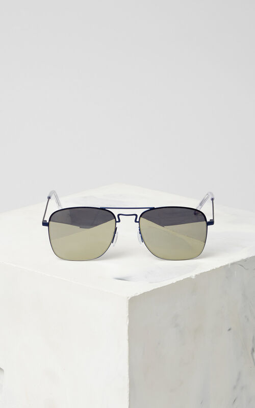 NAVY BLUE Flat Lens 'Kuba' Sunglasses for women KENZO