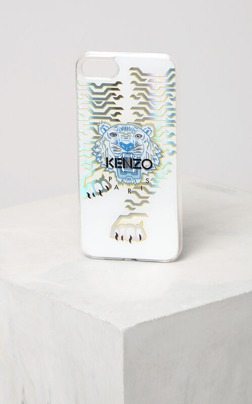 WHITE Geo Tiger iPhone 7 case for unisex KENZO
