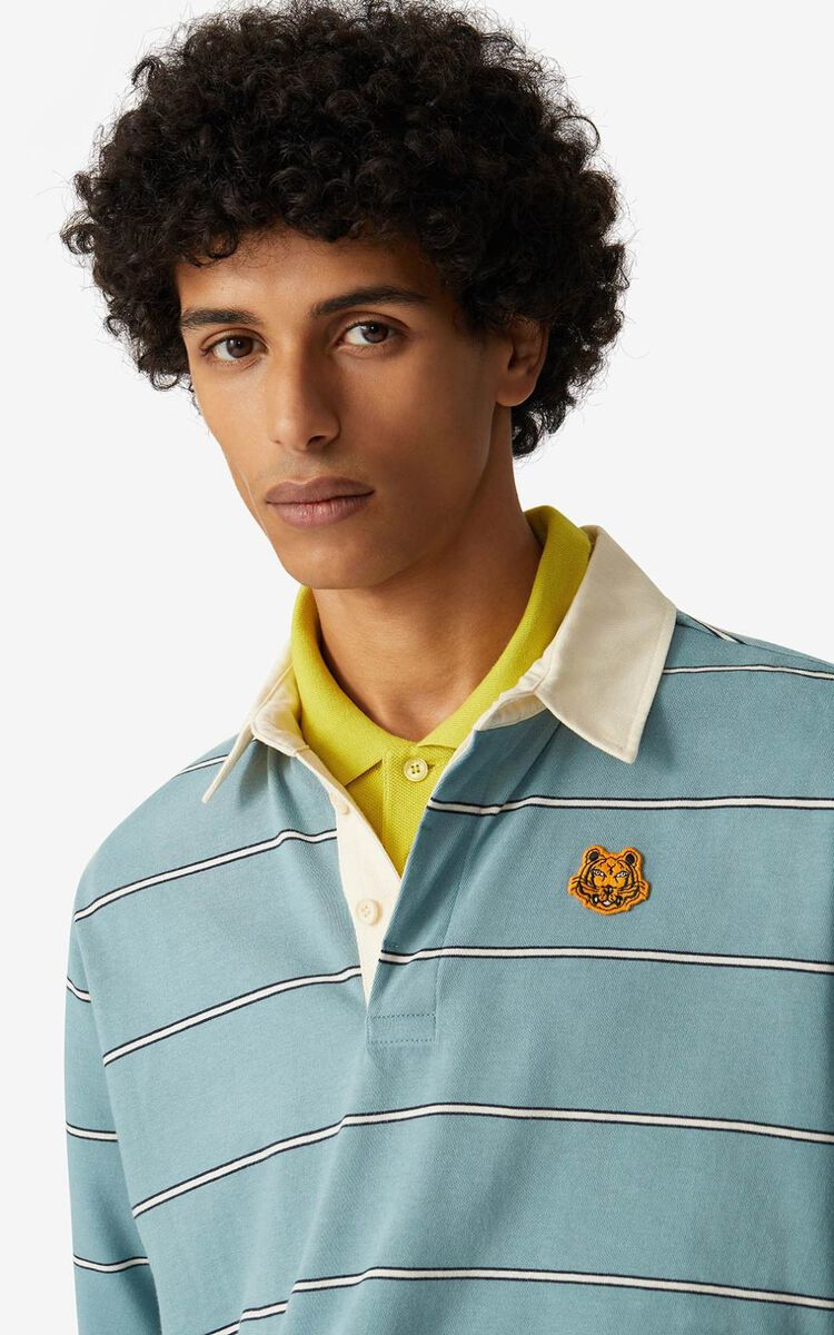 GLACIER Oversize striped polo for men KENZO