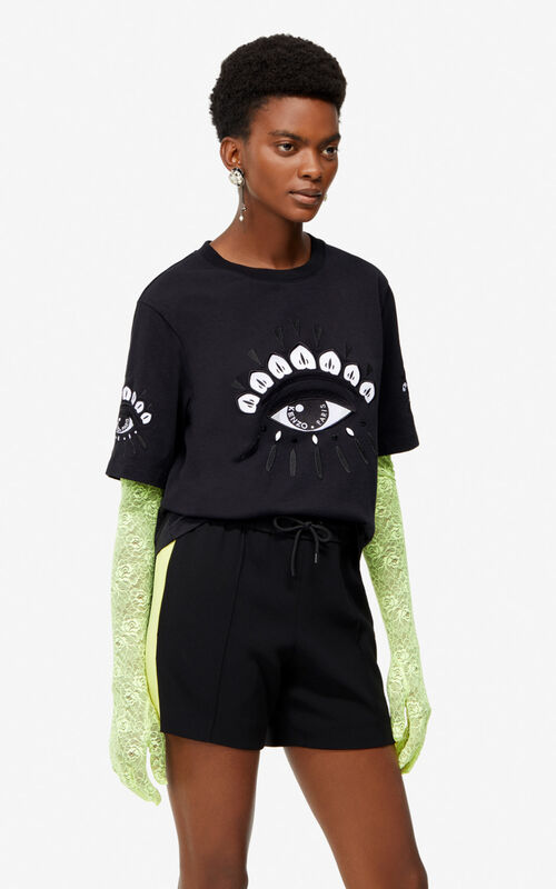 BLACK 'Eye' T-shirt for women KENZO