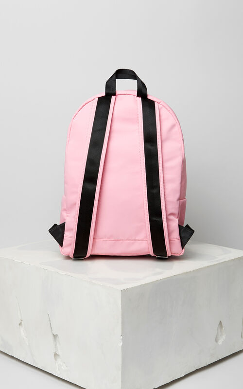 FLAMINGO PINK Large KENZO Logo backpack for unisex