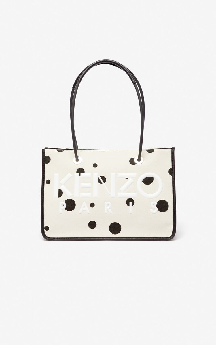 CREAM KENZO Kombo 'Dots' tote bag for women
