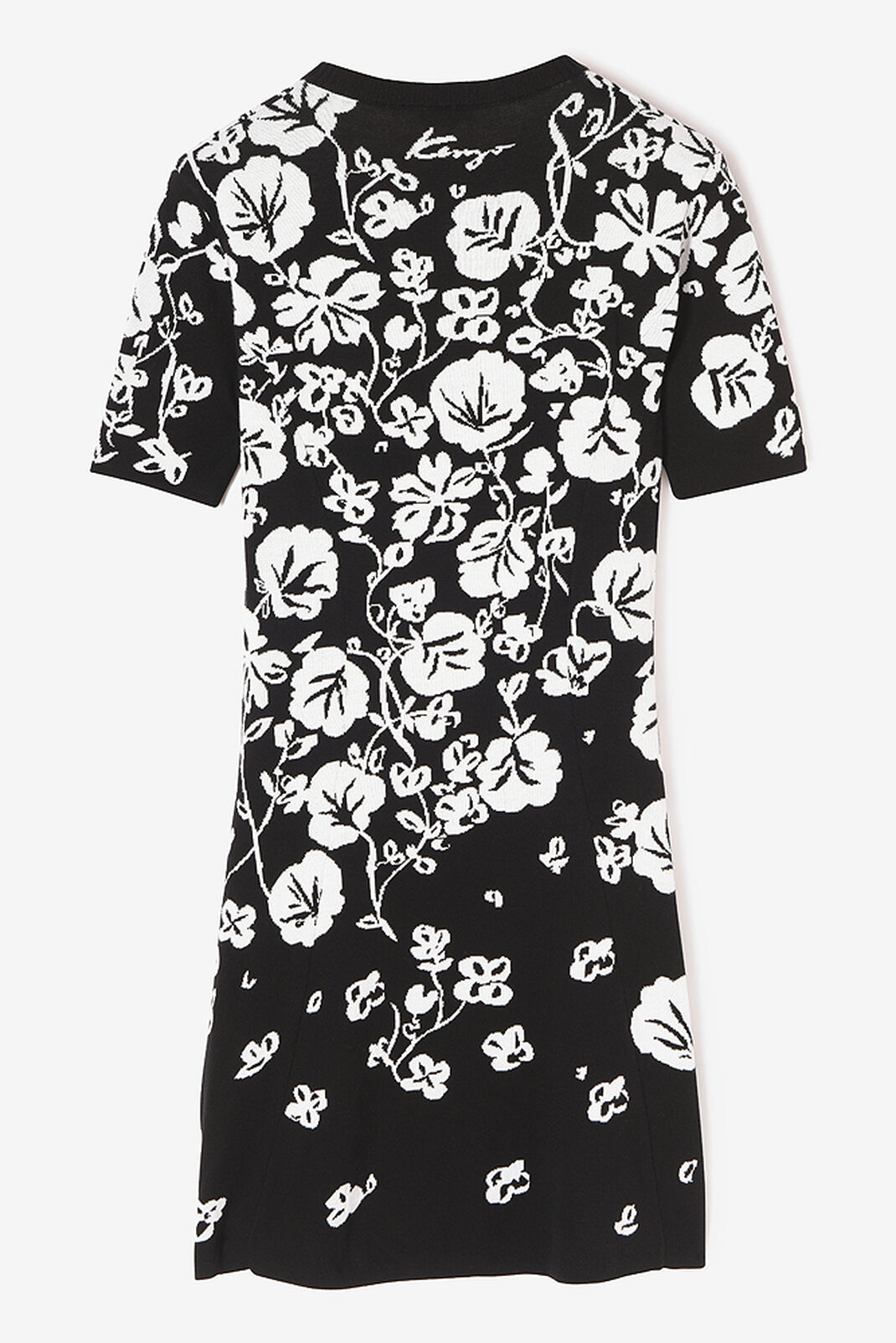 BLACK Floral Leaf' Skater dress for women KENZO