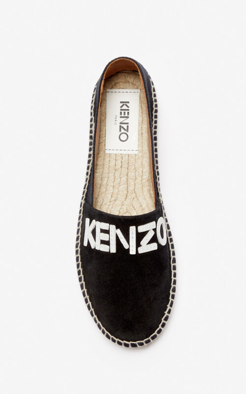BLACK KENZO Logo espadrilles for women