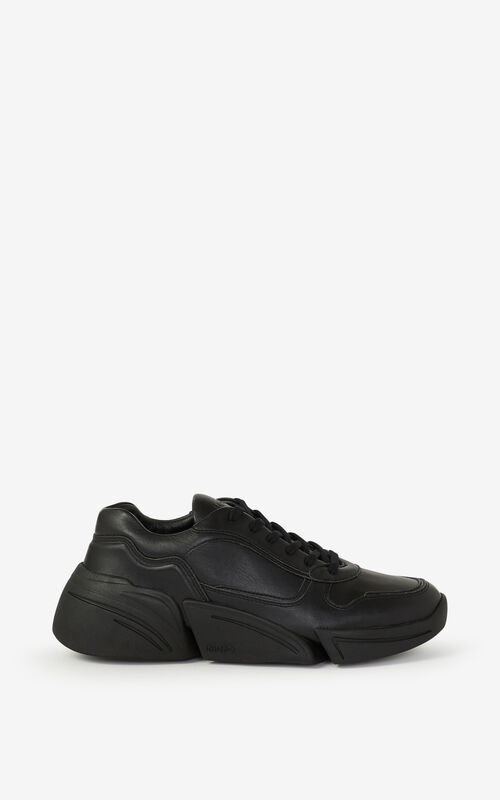 BLACK Kross leather trainers for unisex KENZO
