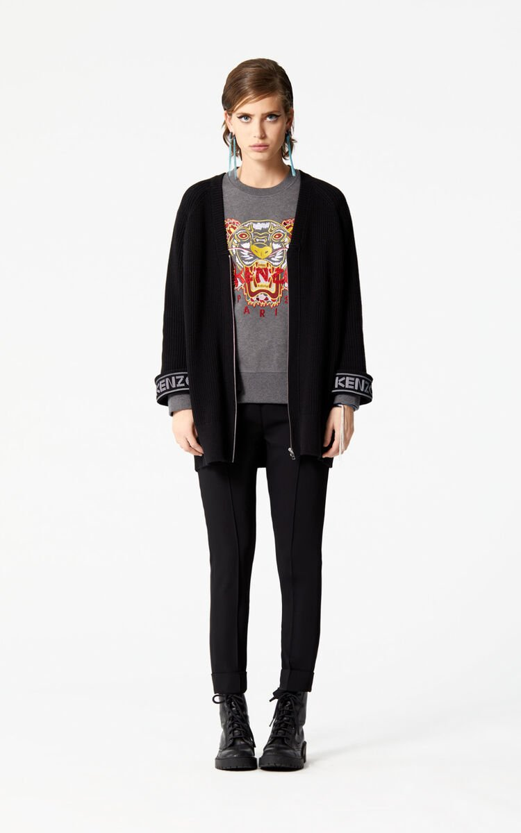 STONE GREY 'Dragon Tiger' Sweatshirt for women KENZO