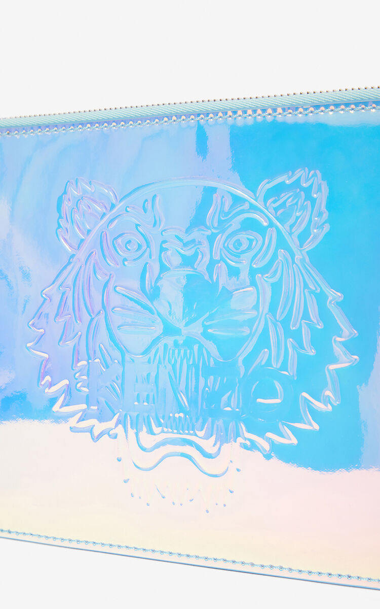 WHITE Tiger clutch for unisex KENZO