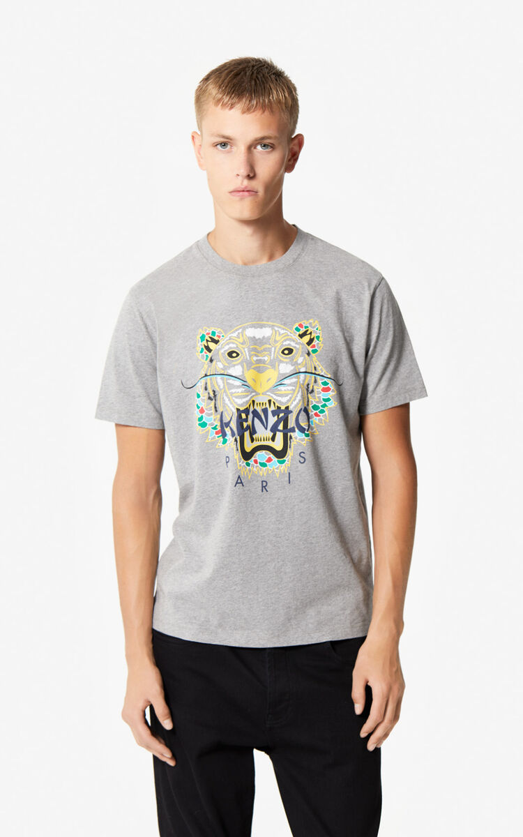 STONE GREY 'Dragon Tiger' T-shirt for men KENZO