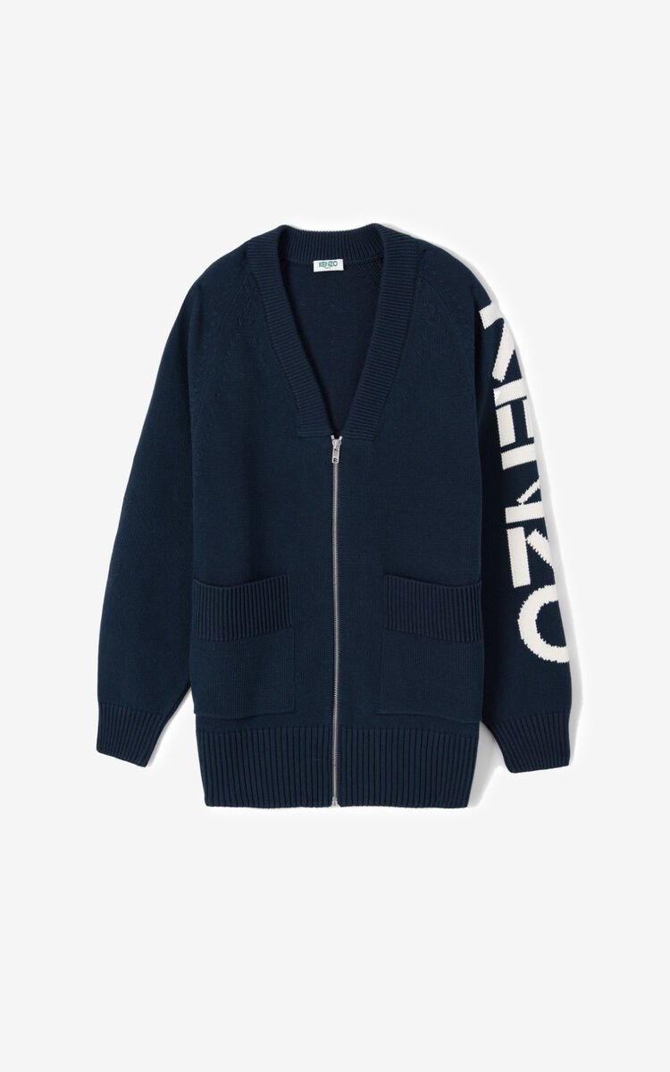 MIDNIGHT BLUE Zipped KENZO cardigan for women