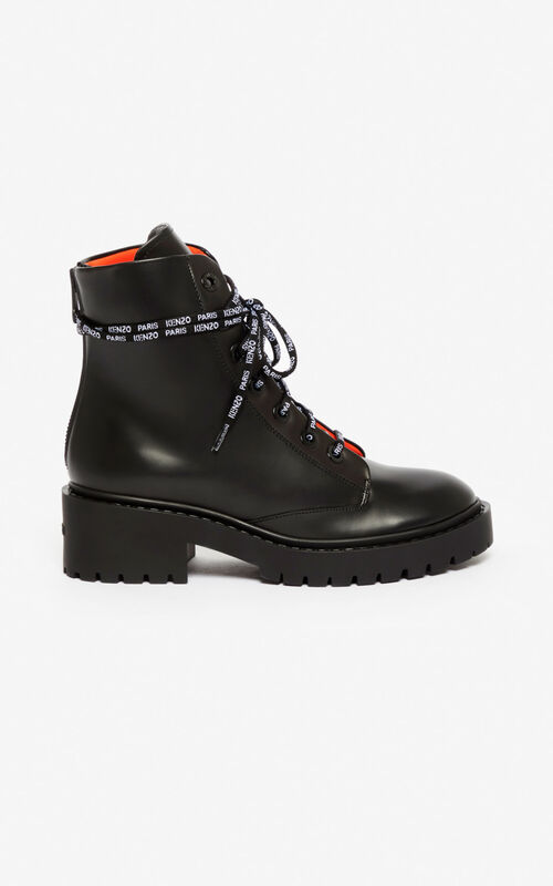 BLACK Pike two-tone boots for men KENZO