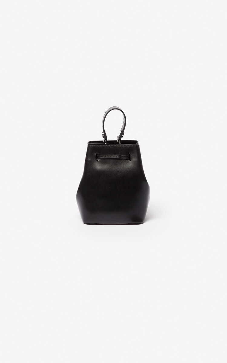 BLACK Eye leather bucket bag for global.none KENZO