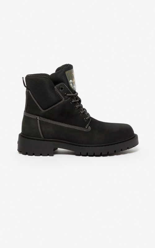 BLACK 'Capsule Expedition' Sierra boots for unisex KENZO