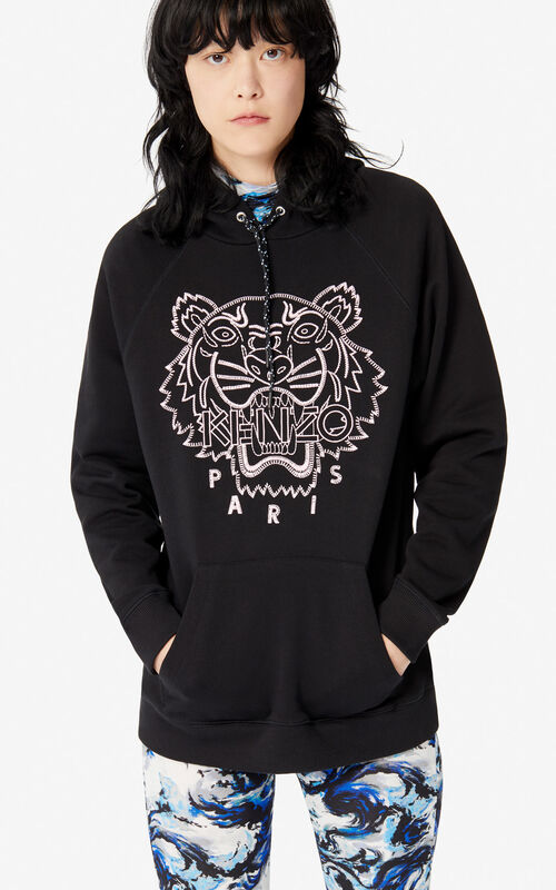 BLACK 'Capsule Expedition' hoodie sweatshirt for women KENZO