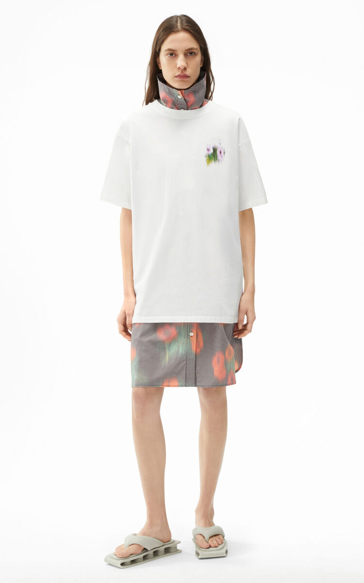 WHITE Coquelicot' oversize T-shirt for women KENZO