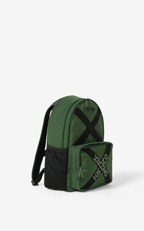 DARK KHAKI KENZO Sport backpack for unisex