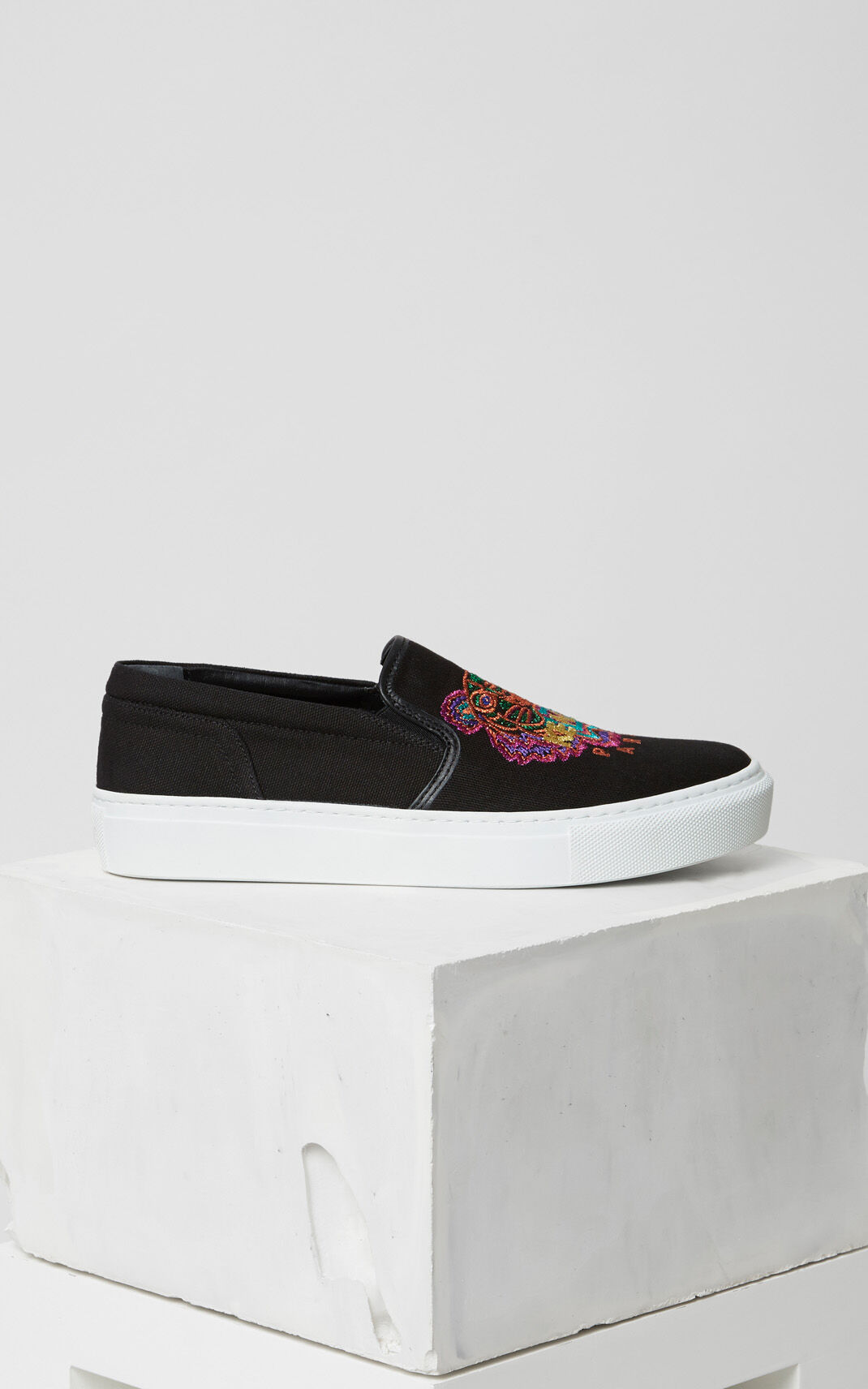 BLACK 'Holiday Capsule Collection' Tiger Slip-ons for women KENZO