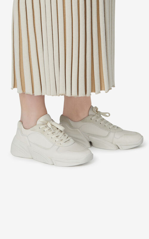 ECRU Kross leather sneakers for women KENZO
