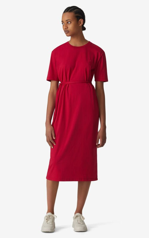 DEEP FUSCHIA K Logo T-shirt dress for women KENZO