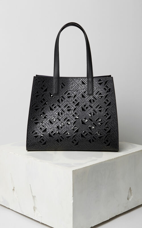 BLACK Flying KENZO Tote Bag for women
