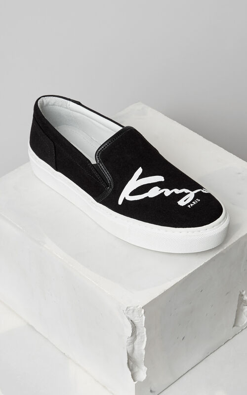 Signature K-Skate Slip-On Sneaker, BLACK, KENZO