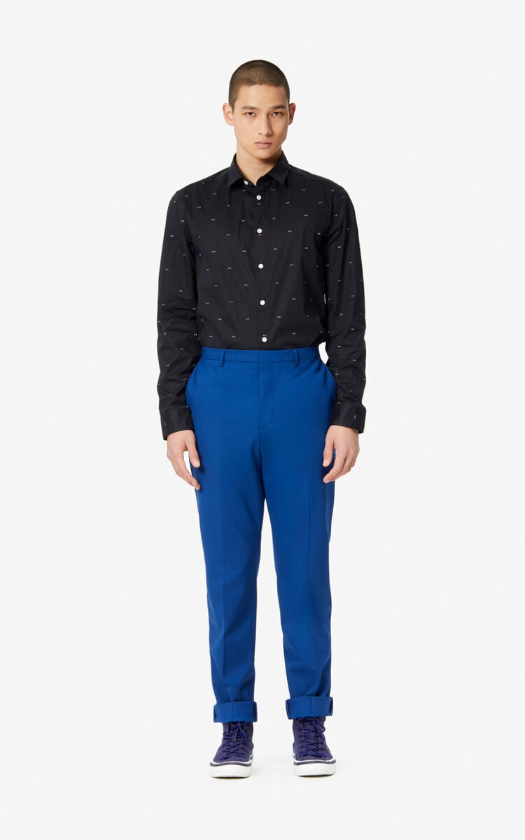 BLACK Slim-fit multi-eye shirt for men KENZO