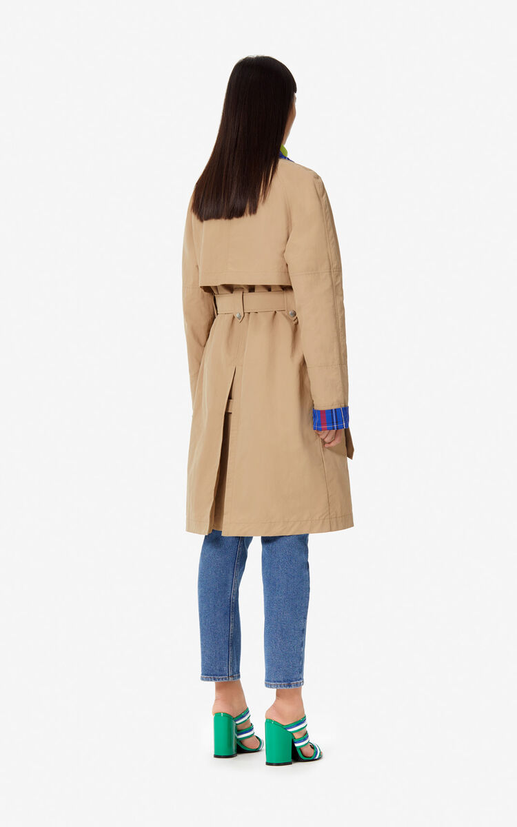 DARK BEIGE Trench coat for women KENZO