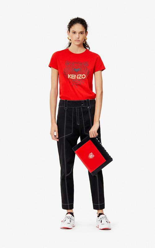 ecb428e0340 ... VERMILLION Tiger t-shirt for women KENZO