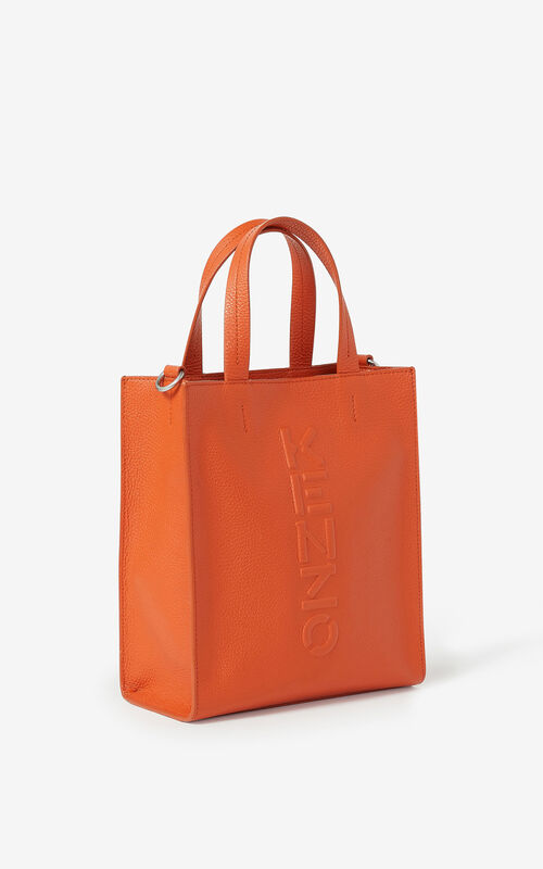 PAPRIKA KENZO Imprint small grained leather tote bag for unisex